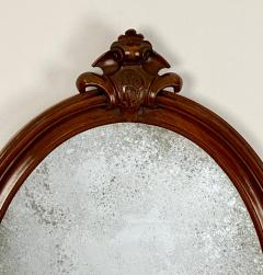 Oval Mirror with a Crest American 19th Century - 1629222