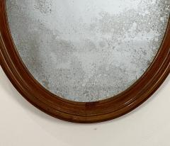 Oval Mirror with a Crest American 19th Century - 1629225