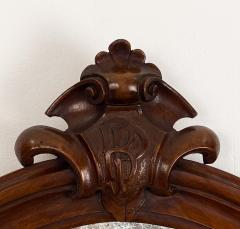 Oval Mirror with a Crest American 19th Century - 1629226
