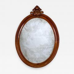 Oval Mirror with a Crest American 19th Century - 1635924