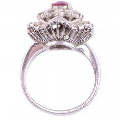 Oval Ruby Diamond Platinum Ring - 2129801