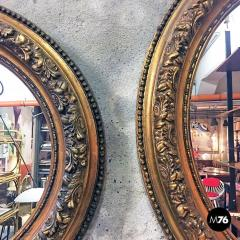 Oval gold mirrors 1900s - 2089198