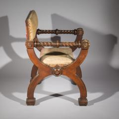 Overscale Antique Curule Desk Armchair - 1214810