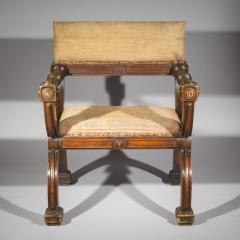 Overscale Antique Curule Desk Armchair - 1214812