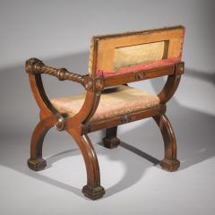 Overscale Antique Curule Desk Armchair - 1214813