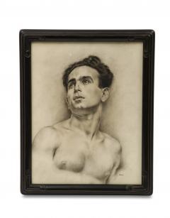 P Bonamini Charcoal Drawing of a Young Man - 1090421