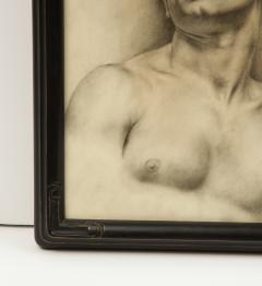 P Bonamini Charcoal Drawing of a Young Man - 1090422