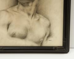 P Bonamini Charcoal Drawing of a Young Man - 1090424