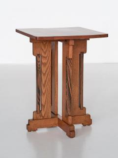 P E L Izeren P E L Izeren Art Deco Side Table in Oak and Macassar Genneper Molen 1930 - 1460311