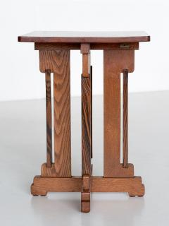 P E L Izeren P E L Izeren Art Deco Side Table in Oak and Macassar Genneper Molen 1930 - 1460314