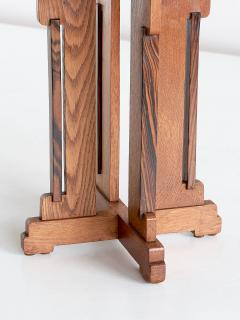 P E L Izeren P E L Izeren Art Deco Side Table in Oak and Macassar Genneper Molen 1930 - 1460317