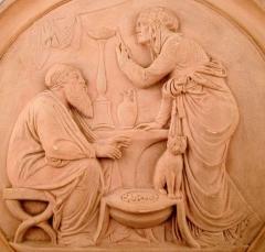 P Ipsen Plaque in fired clay terracotta - 1386029