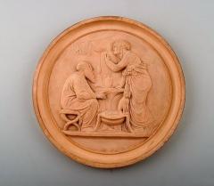 P Ipsen Plaque in fired clay terracotta - 1386030