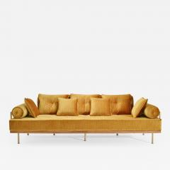 P Tendercool Bespoke Sofa with Brass and Reclaimed Hardwood Frame by P Tendercool in Stock - 901830