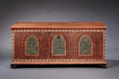 PAINTED DOWER CHEST - 1401117
