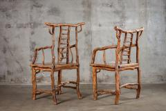 PAIR BRANCH ARMCHAIRS - 1052583