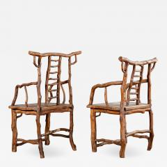 PAIR BRANCH ARMCHAIRS - 1195150