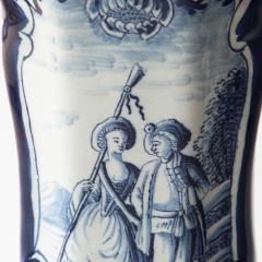 PAIR OF 18TH CENTURY OCTAGONAL DELFT VASES - 1140178