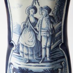 PAIR OF 18TH CENTURY OCTAGONAL DELFT VASES - 1140179