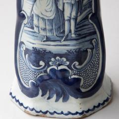 PAIR OF 18TH CENTURY OCTAGONAL DELFT VASES - 1140180