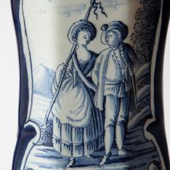 PAIR OF 18TH CENTURY OCTAGONAL DELFT VASES - 1140181