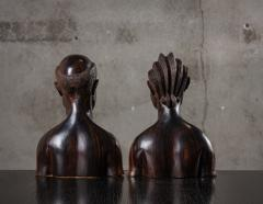PAIR OF AFRICAN IRONWOOD MALE AND FEMALE BUSTS - 1018807