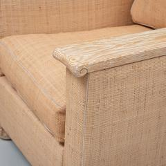 PAIR OF ART DECO LIME OAK AND RAFFIA ARMCHAIRS - 1911399