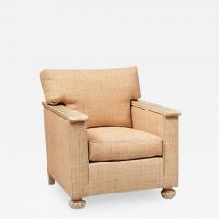 PAIR OF ART DECO LIME OAK AND RAFFIA ARMCHAIRS - 1913193