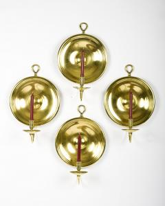 PAIR OF BRASS CANDLE SCONCES - 771321