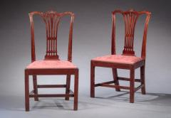 PAIR OF CARVED CHIPPENDALE SIDE CHAIRS - 1104174