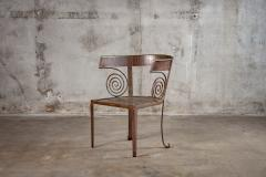 PAIR OF CUSTOM IRON CHAIRS - 1053181
