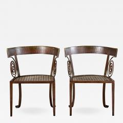 PAIR OF CUSTOM IRON CHAIRS - 1194577