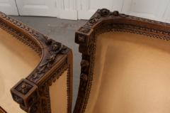 PAIR OF FRENCH 19TH CENTURY LOUIS XVI CARVED WALNUT BERG RES - 697016