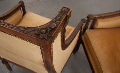PAIR OF FRENCH 19TH CENTURY LOUIS XVI CARVED WALNUT BERG RES - 697017
