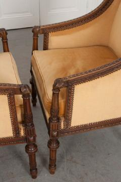 PAIR OF FRENCH 19TH CENTURY LOUIS XVI CARVED WALNUT BERG RES - 697018