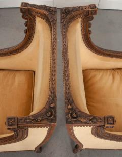 PAIR OF FRENCH 19TH CENTURY LOUIS XVI CARVED WALNUT BERG RES - 697019
