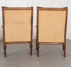 PAIR OF FRENCH 19TH CENTURY LOUIS XVI CARVED WALNUT BERG RES - 697024