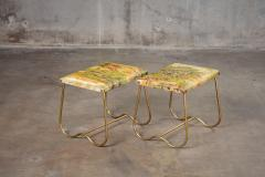 PAIR OF ITALIAN MID CENTURY BRASS BENCHES - 914725