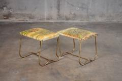 PAIR OF ITALIAN MID CENTURY BRASS BENCHES - 914727