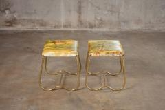 PAIR OF ITALIAN MID CENTURY BRASS BENCHES - 914728