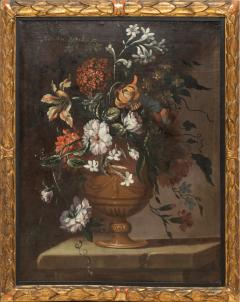 PAIR OF PAINTINGS OF FLOWERS SPANISH SCHOOL 18TH CENTURY - 1271303