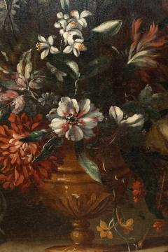 PAIR OF PAINTINGS OF FLOWERS SPANISH SCHOOL 18TH CENTURY - 1271305