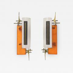 PAIR OF PERSPEX AND BRASS SCONCES 1950  - 1960066