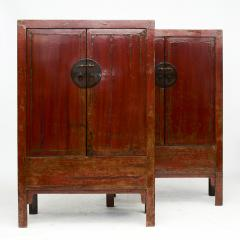 PAIR OF RED LACQUERED WEDDING CABINETS SHANXI PROVINCE C 1840 - 1988587