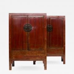 PAIR OF RED LACQUERED WEDDING CABINETS SHANXI PROVINCE C 1840 - 1989402