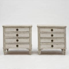 PAIR OF SMALL SWEDISH GUSTAVIAN STYLE CHEST OF DRAWERS OR NIGHTSTANDS - 2135879