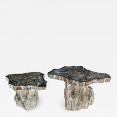 PAIR OF STONE SIDE TABLES - 1177658