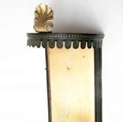 PAIR OF SWEDISH ART DECO SCONCES WITH PATINATED CANOPY  - 1178815