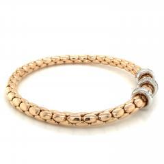 PInk Gold 18 K Timeless Stretch Bracelet with diamonds - 1175974