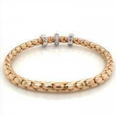 PInk Gold 18 K Timeless Stretch Bracelet with diamonds - 1175975